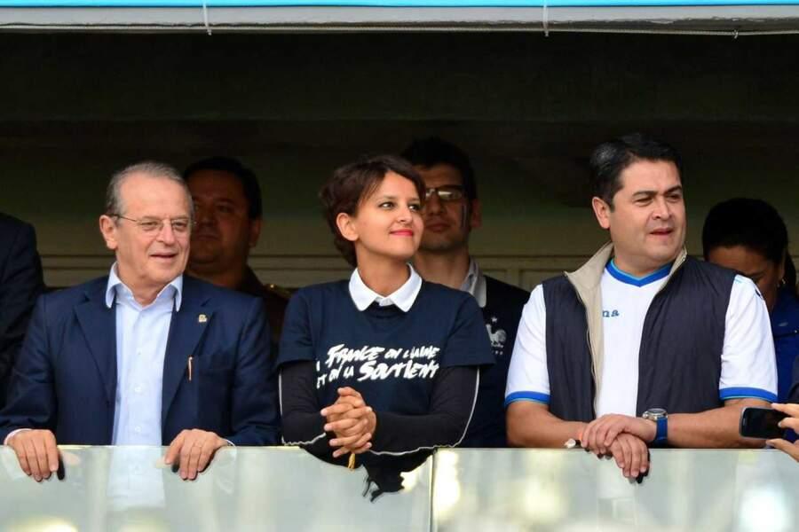 La ministre des Sports, Najat Vallaud-Belkacem, à fond dans le match !