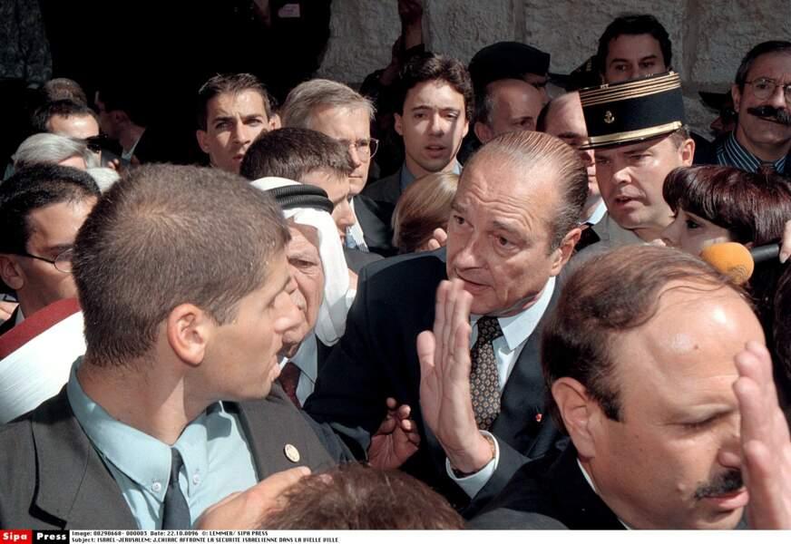 1996 : à la sécurité très zélée de Jérusalem, Do you want me to go back to my plane and go back to France ?