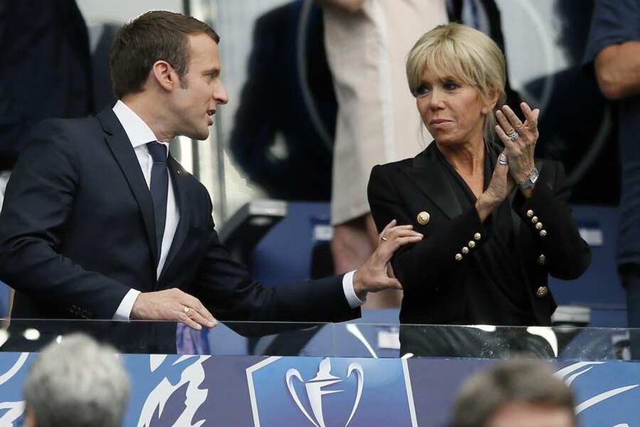 Brigitte Macron était à fond...