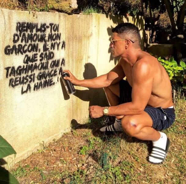 Un conseil avant de nous quitter : si vous taguez un mur, pensez à ne pas y inscrire votre nom. Hum.