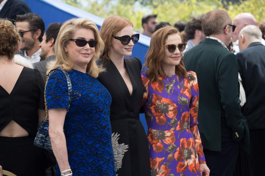 Catherine Deneuve, Jessica Chastain, Isabelle Huppert : trois actrices au firmament