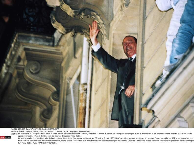 1995 : il est élu président de la République !