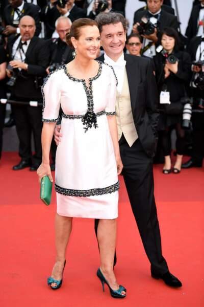 Carole Bouquet et Philippe Sereys de Rothschild venus fêter les 70 ans du Festival
