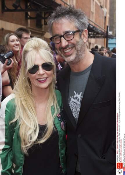 Le couple d'acteurs anglais Morwenna Banks et David Baddiel…