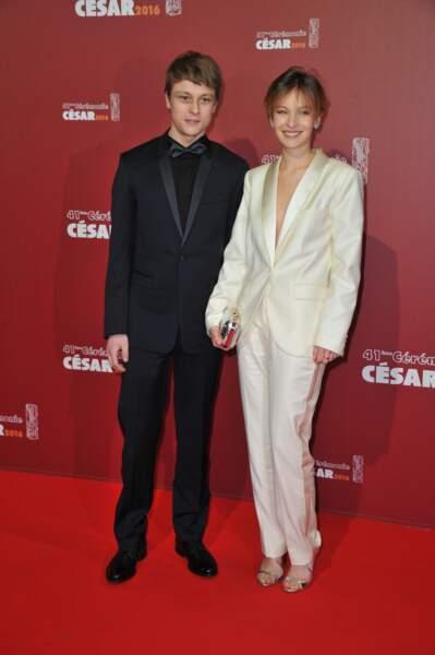 Rod Paradot, Meilleur espoir masculin (La tête haute) et Diane Rouxel