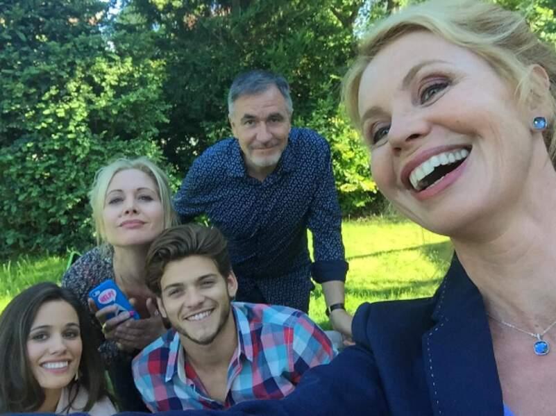 Selfie dans le jardin