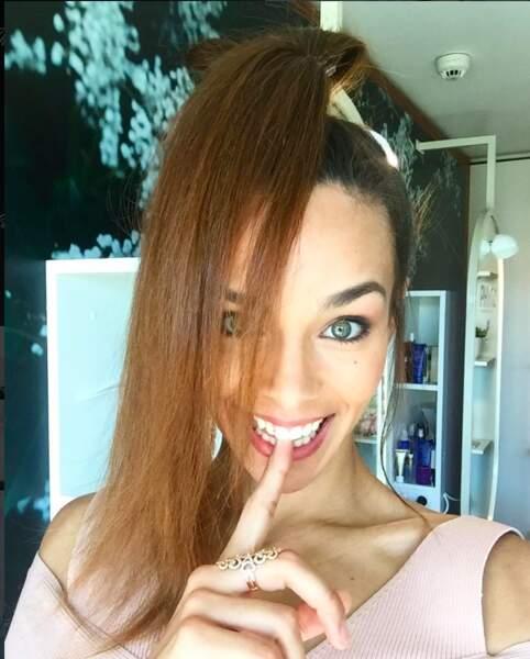 Séance coiffure pour Marine Lorphelin