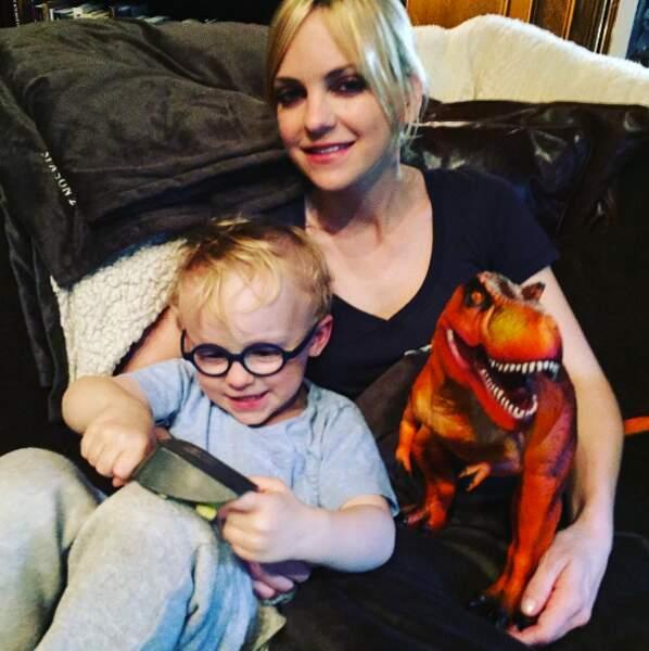 Anna Farris et le petit Jack.