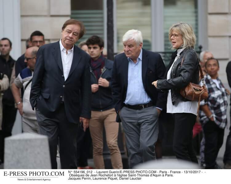 Daniel Lauclair, Jacques Perrin et Laurence Piquet