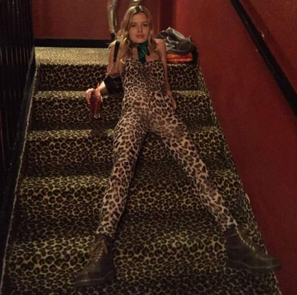 Ou comme ça. Bravo Georgia May Jagger, reine du camouflage.