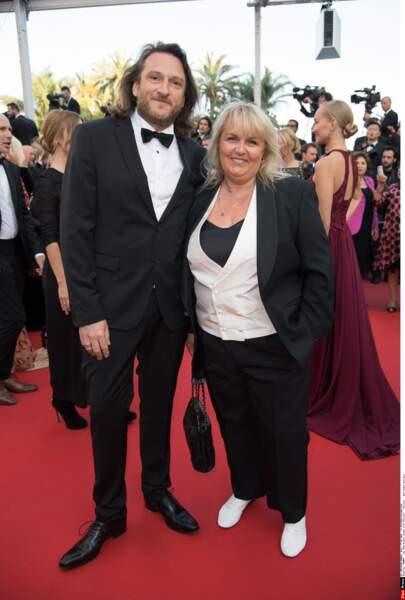 Valérie Damidot et son mari, pour la projection de Julieta