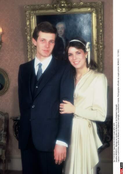 Mais c'est un jeune Italien qui la demande en mariage : Stefano Casiraghi. Ils se marient en 1983 à Monaco