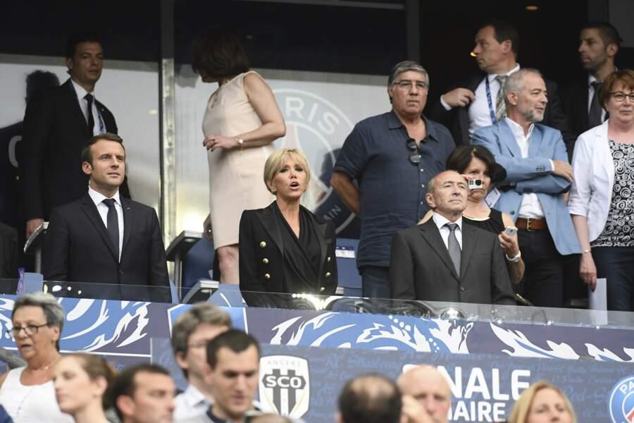 Premier match officiel d'Emmanuel Macron en tant que président de la République