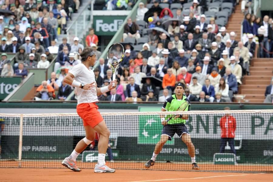 L'affiche de la finale hommes : Rafael Nadal contre David Ferrer.