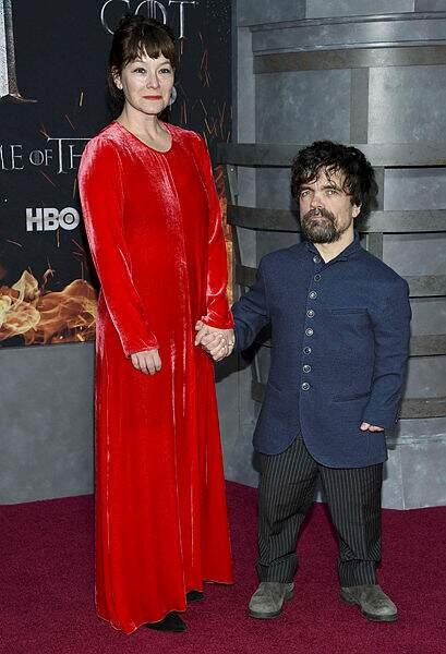 Peter Dinklage (Tyrion Lannister) et son épouse Erica Schmidt