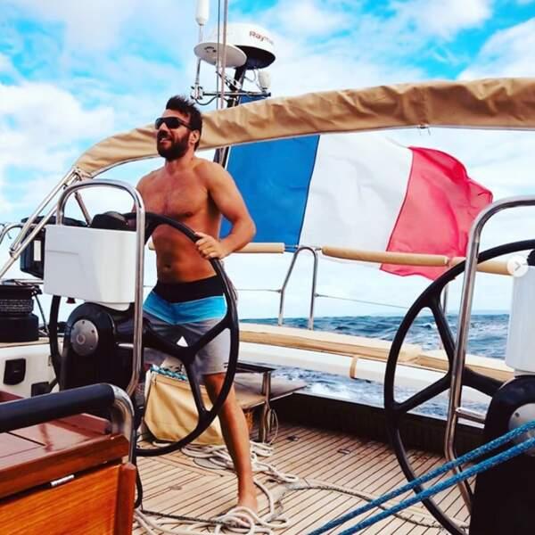 Samuel Le Bihan a fait du bateau au large de la Guadeloupe.