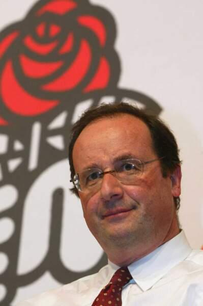 On termine avec le président François Hollande : le voici en 2005