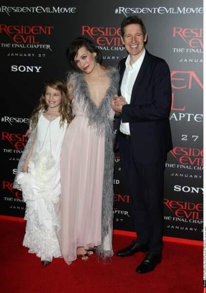 Milla est aujourd'hui en couple avec le réalisateur Paul W.S. Anderson et maman d'Ever (à gauche sur la photo)