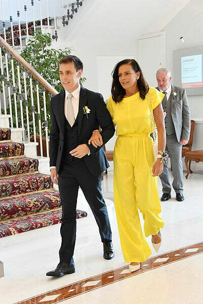 La princesse Stéphanie fière d'accompagner son fils vers son destin