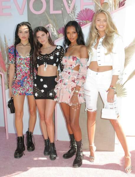 """Les """"Anges"""" de Victoria's Secret Shanina Shaik, Sara Sampaio, Jasmine Tookes et Romee Strijd"""