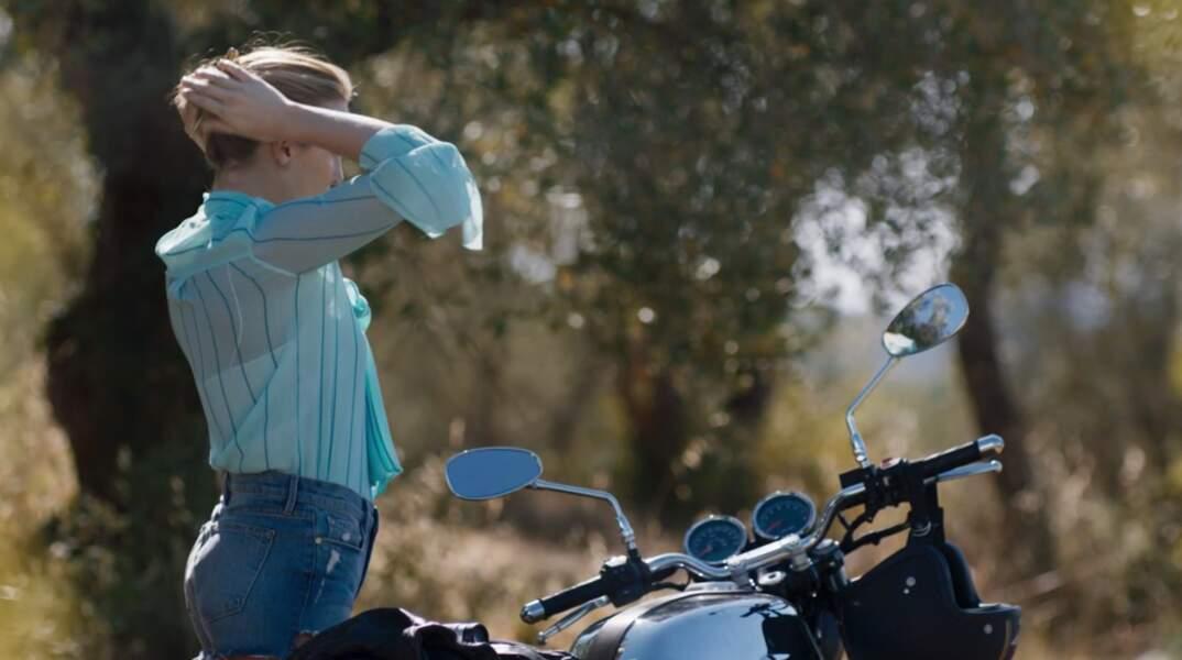 Pas de virée à moto sans son short en jean !