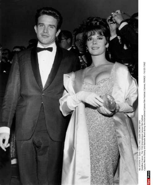 Warren Beatty et Nathalie Wood le couple le plus glamour du festival en 1962