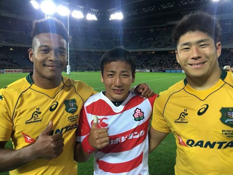 Le Japon, pays hôte, n'est pas en reste avec sa sélection. A l'image du demi de mêlée Yutaka Nagare...