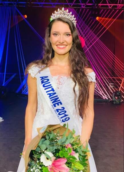 Justine Delmas a été Miss Aquitaine