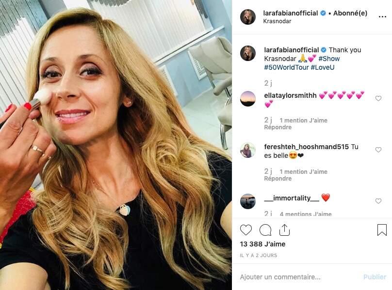 Un dernier coup de pinceau pour Lara Fabian