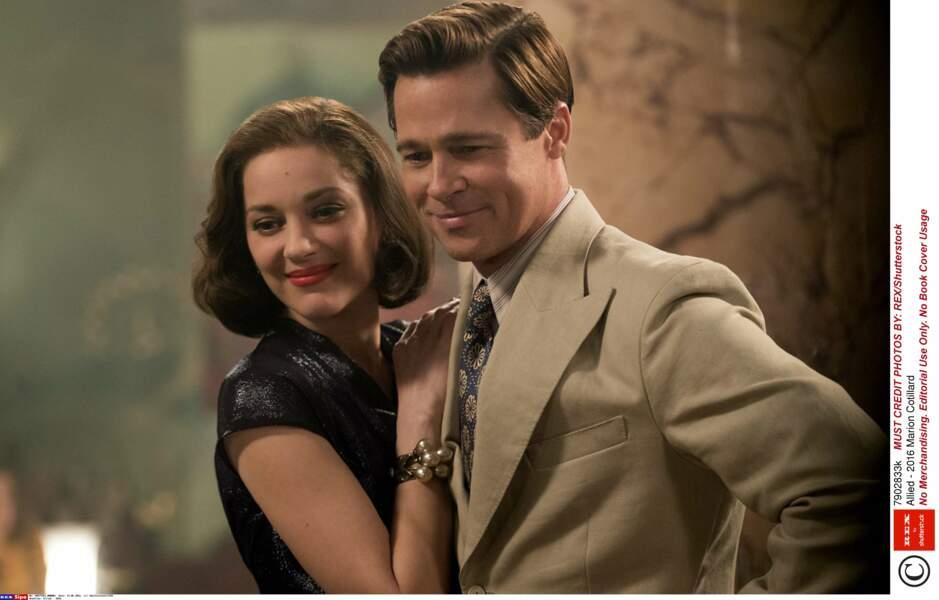 Avec Brad Pitt, dans Alliés (2016)