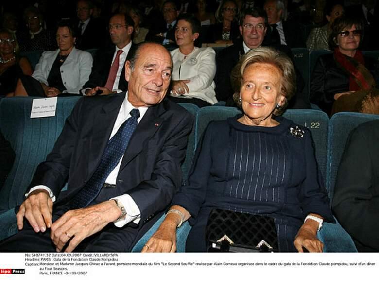 Jacques et Bernadette Chirac en 2007