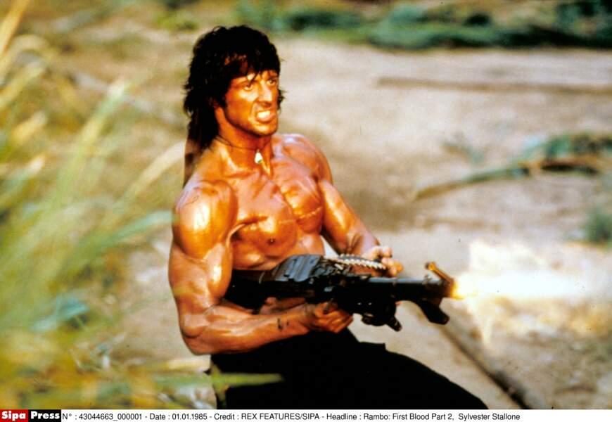 Tous muscles dehors dans Rambo 2 : la mission