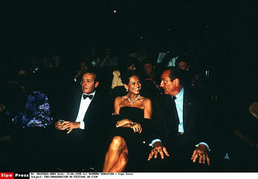 Avec Claudia Cardinale en 1998.