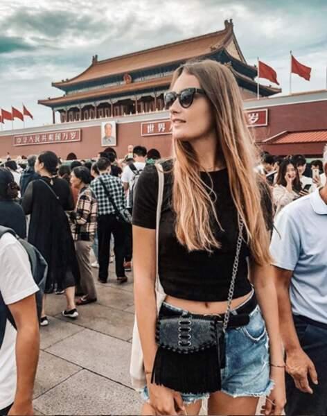 Sur la fameuse Place Tian'anmen