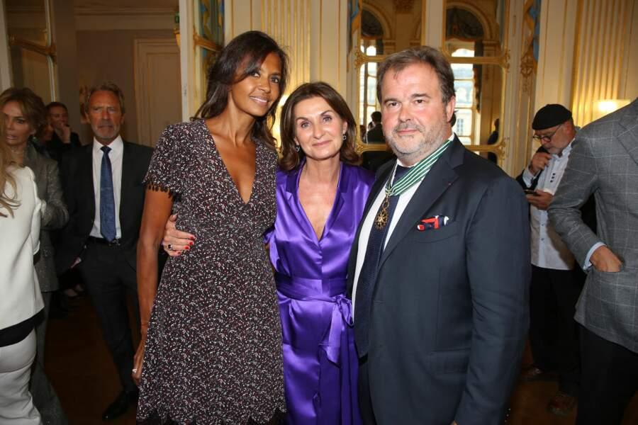 Karine Le Marchand, Pierre Hermé – tout juste décoré – et son épouse Valérie Franceschi