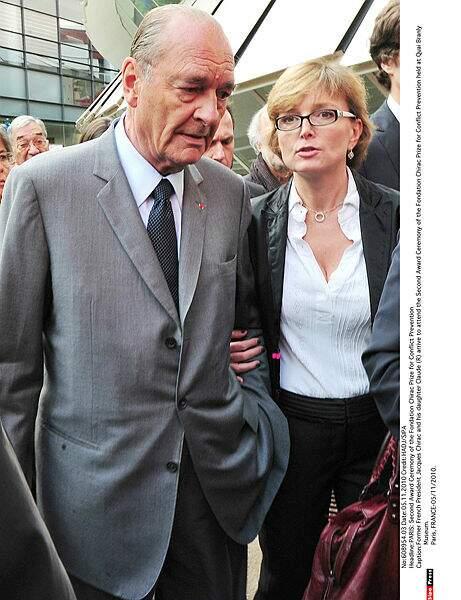 Jacques Chirac et sa fille Claude au musée du Quai Branly en 2010.
