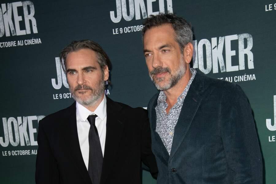 L'acteur pose avec le réalisateur du film, Todd Phillips
