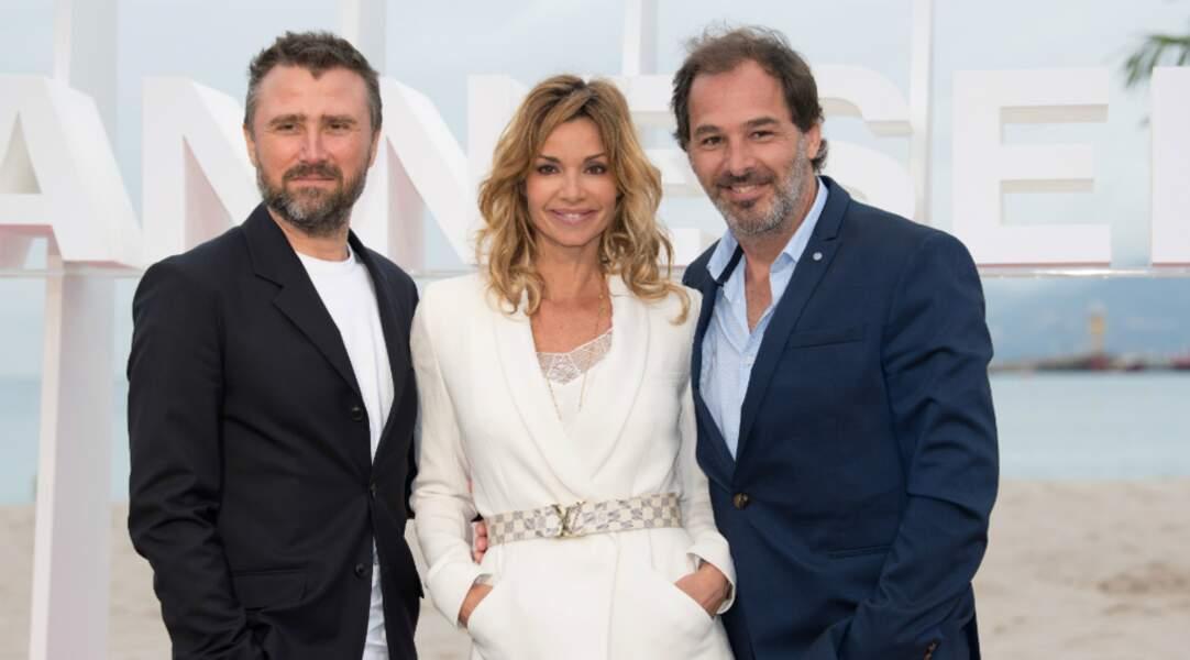 Alexandre Brasseur et Thierry Peythieu, ses maris à l'écran et à la ville, à Canneséries, en 2018