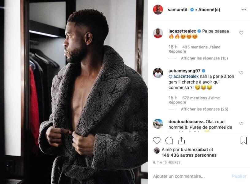 et Samuel Umtiti hésite entre manteau et torse nu...