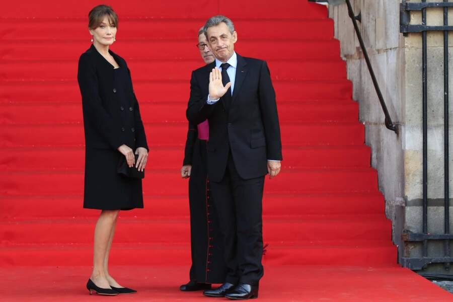 Nicolas Sarkozy est venu avec sa femme, Carla Bruni.