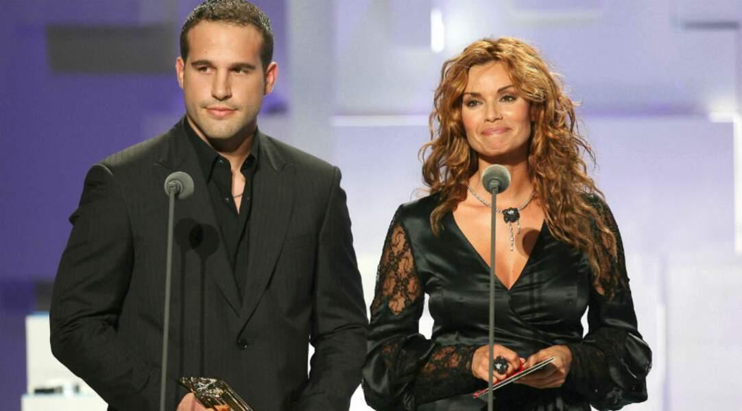 2007 encore, elle remet un prix aux NRJ Music AWARDS, ici avec Frédéric Michalak