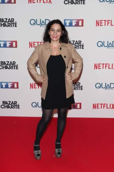 Cécile Rebboah est venue soutenir les comédiens du Bazar de la Charité
