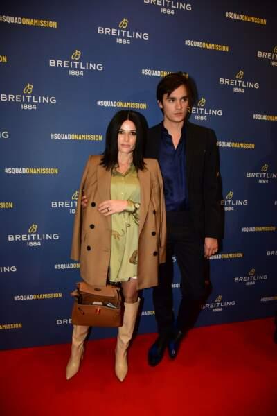 Elle était accompagnée de son chéri Alain-Fabien Delon