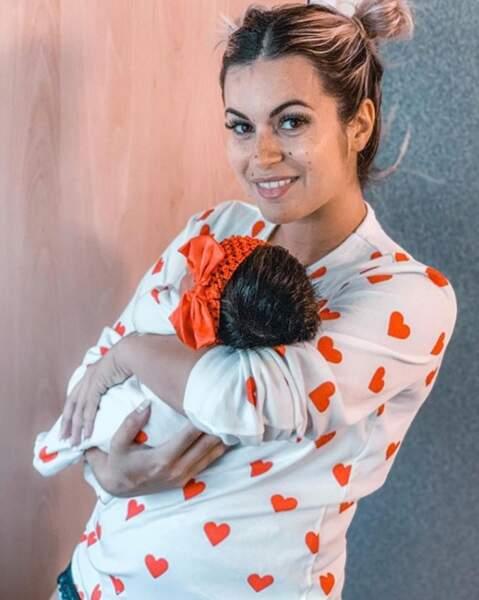 Mardi 1er octobre 2019, Carla Moreau est devenue maman d'une petite Ruby