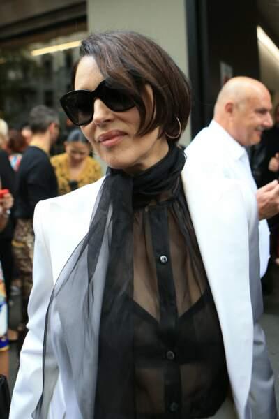 Monica Bellucci au défilé Dolce & Gabbana à la Fashion Week de Milan