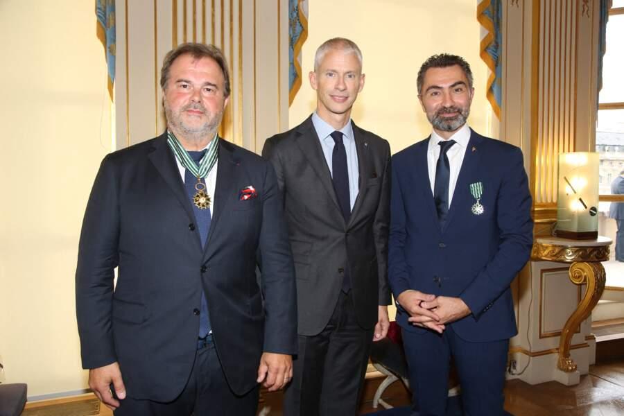 David Sinapian, Franck Riester et Pierre Hermé