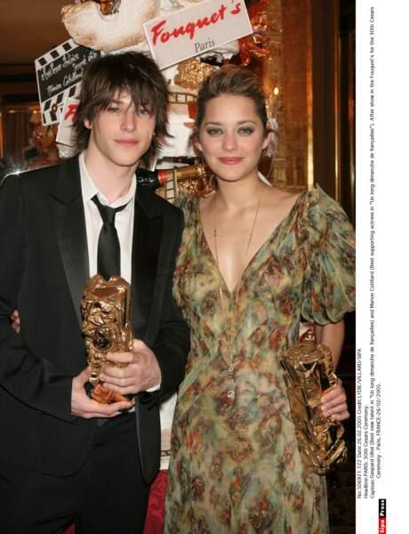 Gaspard Ulliel et elle reçoivent un prix pour Un long dimanche de fiançailles (2005)