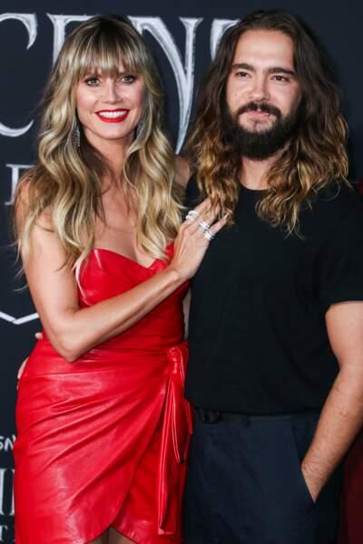 Heidi Klum, au bras de son mari Tom Kaulitz, du groupe Tokio Hotel