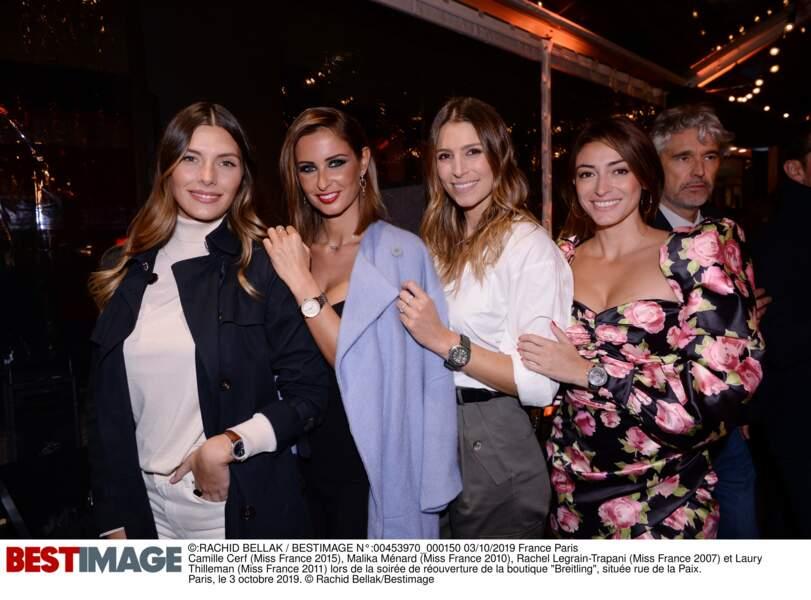 Camille Cerf, Malika Ménard, Rachel Legrain-Trapani, et Laury Thilleman réunies !