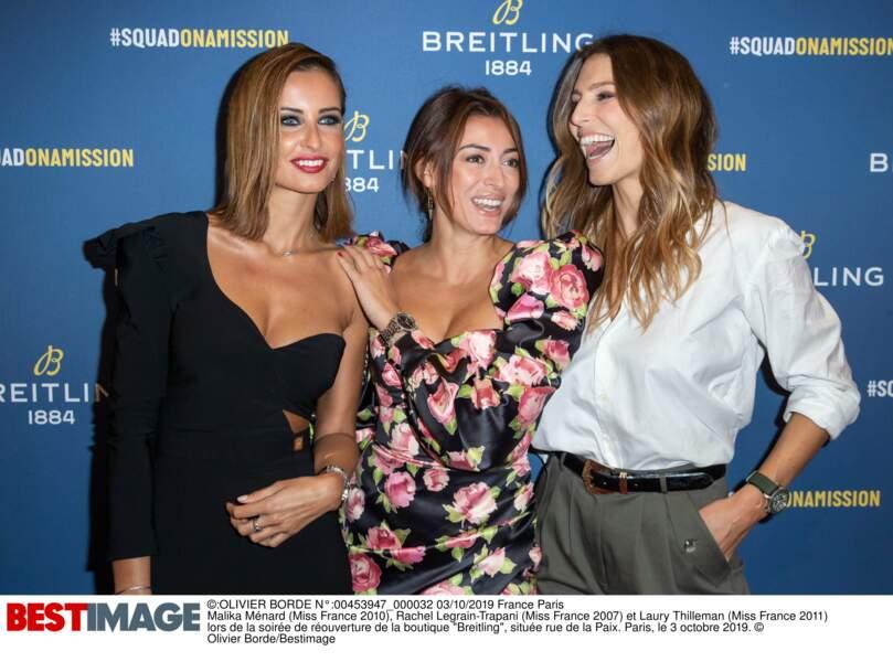 Malika Ménard, Rachel Legrain-Trapani et Laury Thilleman, les copines Miss